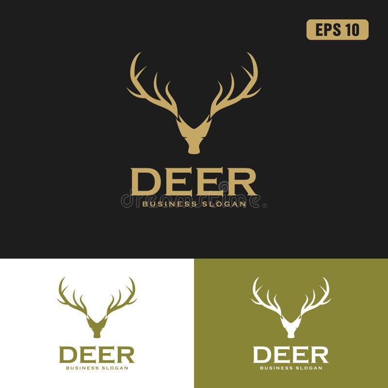 Logotipo dos cervos/negócio Logo Idea do projeto vetor do ícone ilustração royalty free
