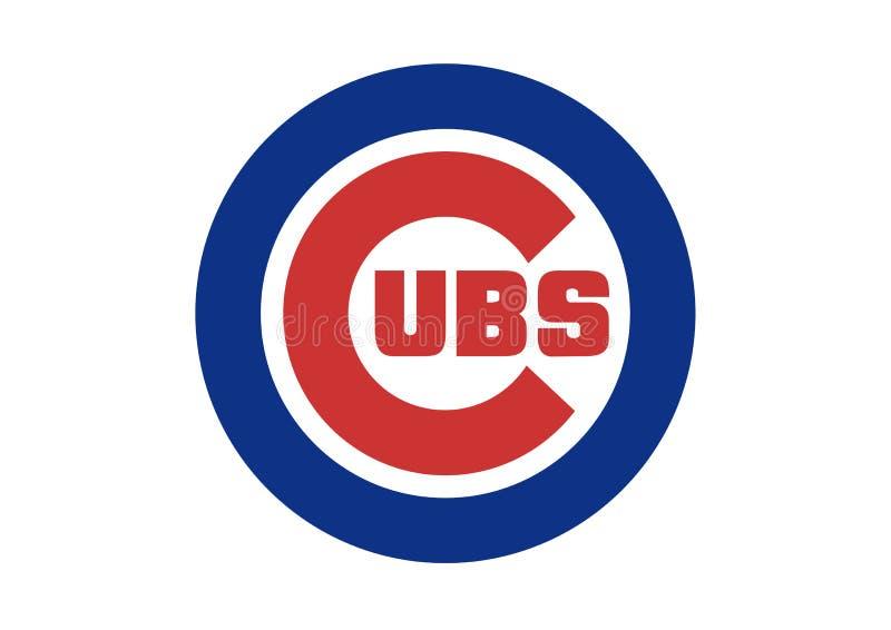 Logotipo dos Chicago Cubs ilustração royalty free