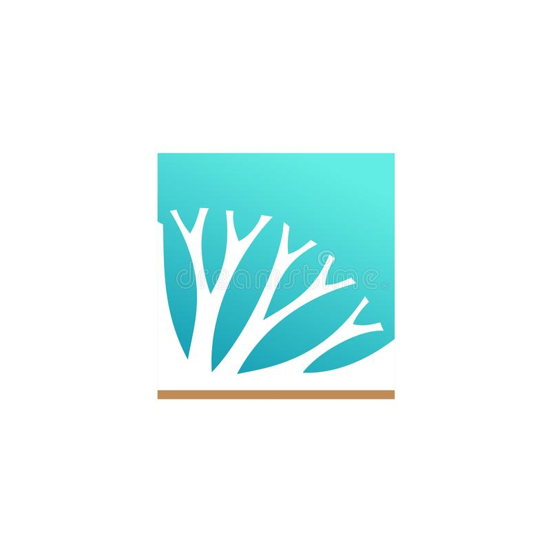 Logotipo dos componentes do fitoterapia ou do cosmético ilustração do vetor