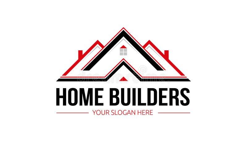 Logotipo dos construtores de casas ilustração do vetor