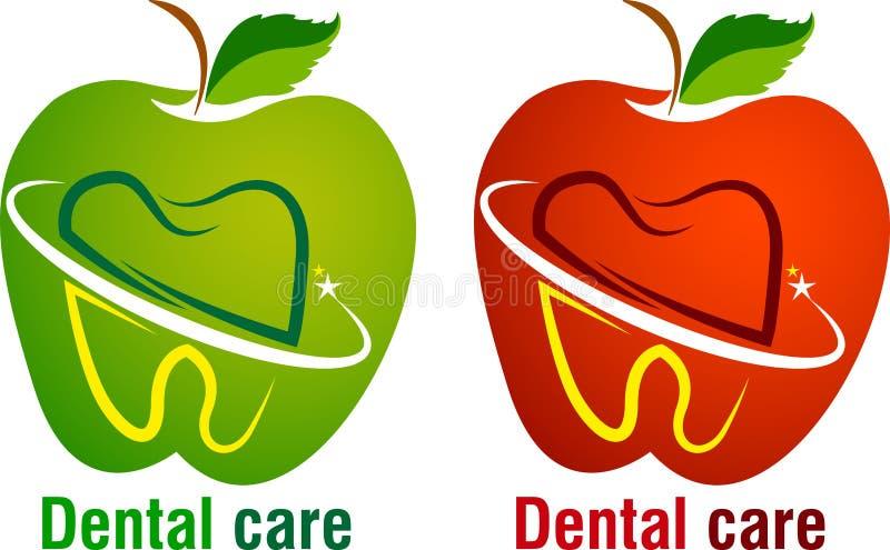 Logotipo dos cuidados dentários ilustração do vetor