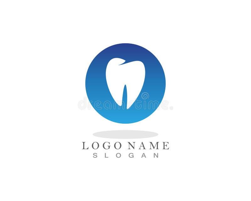 Logotipo dos cuidados dentários e ícones app do molde dos símbolos ilustração do vetor