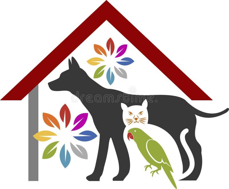 Logotipo dos cuidados dos animais de estimação ilustração royalty free