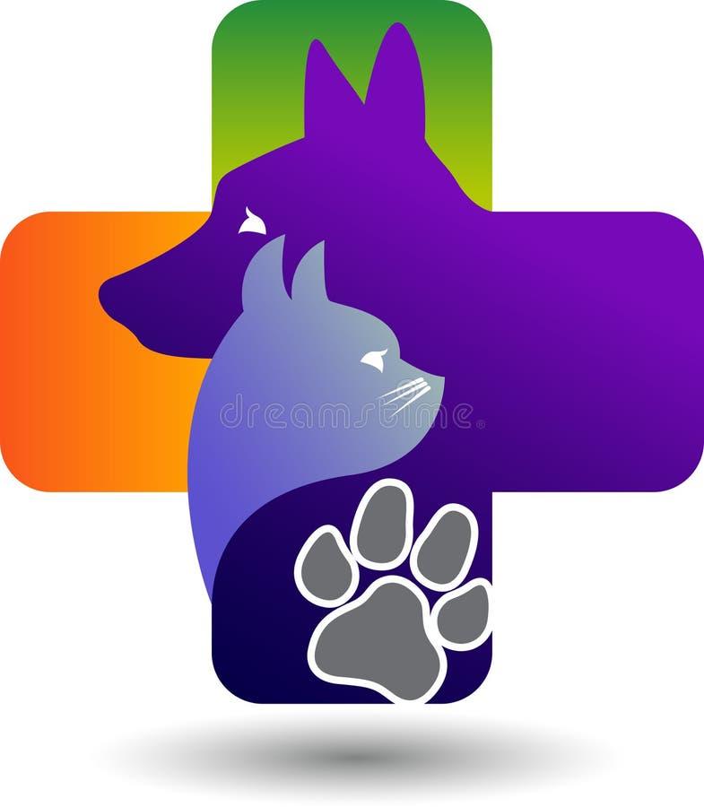 Logotipo dos cuidados dos animais de estimação ilustração stock