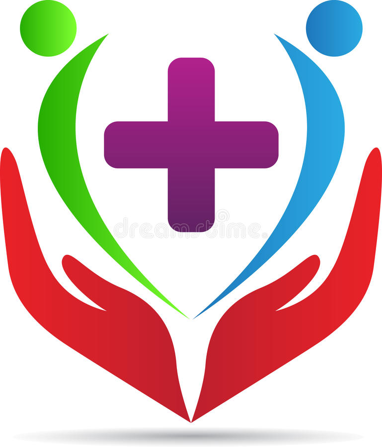 Logotipo dos cuidados médicos ilustração royalty free