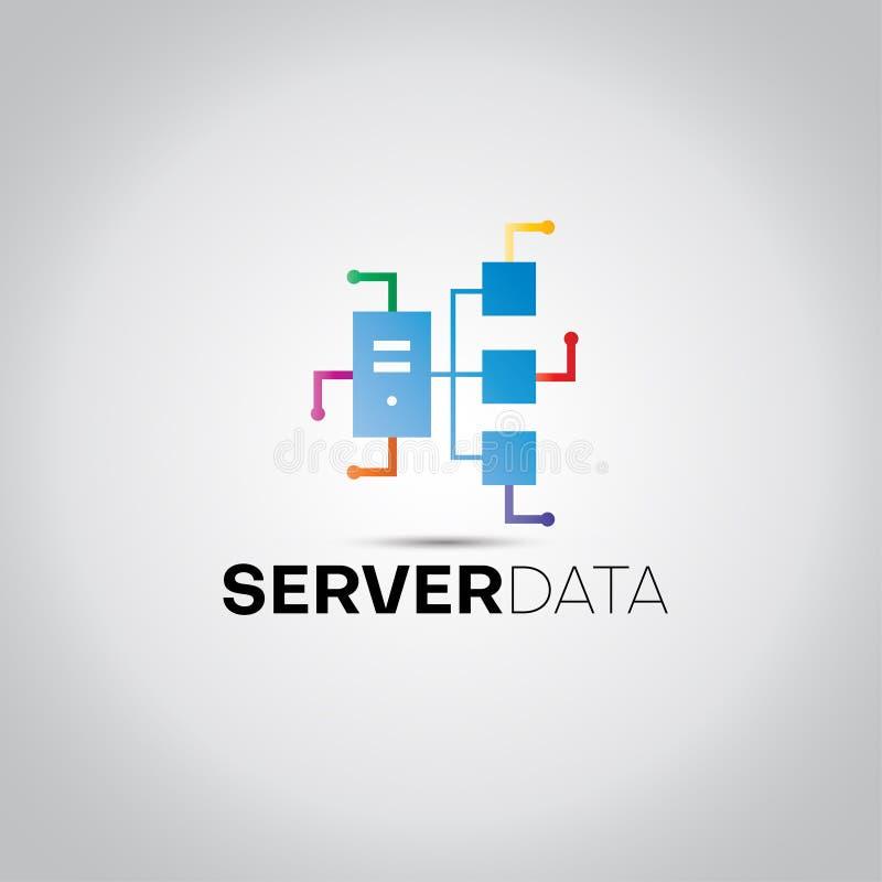 Logotipo dos dados de Digitas do servidor ilustração royalty free