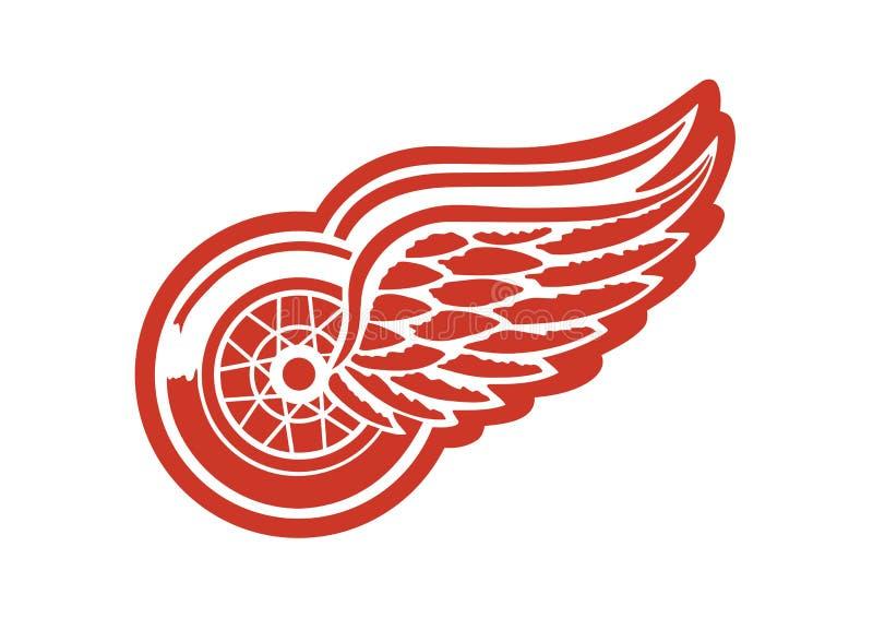 Logotipo dos Detroit Red Wings ilustração stock
