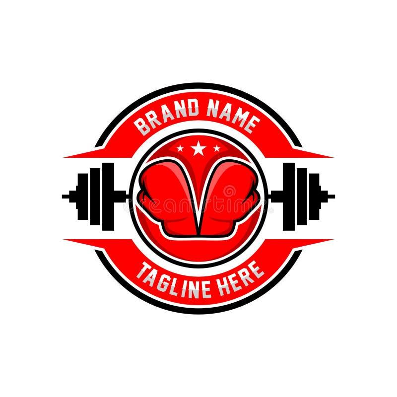 Logotipo dos esportes do encaixotamento ilustração do vetor