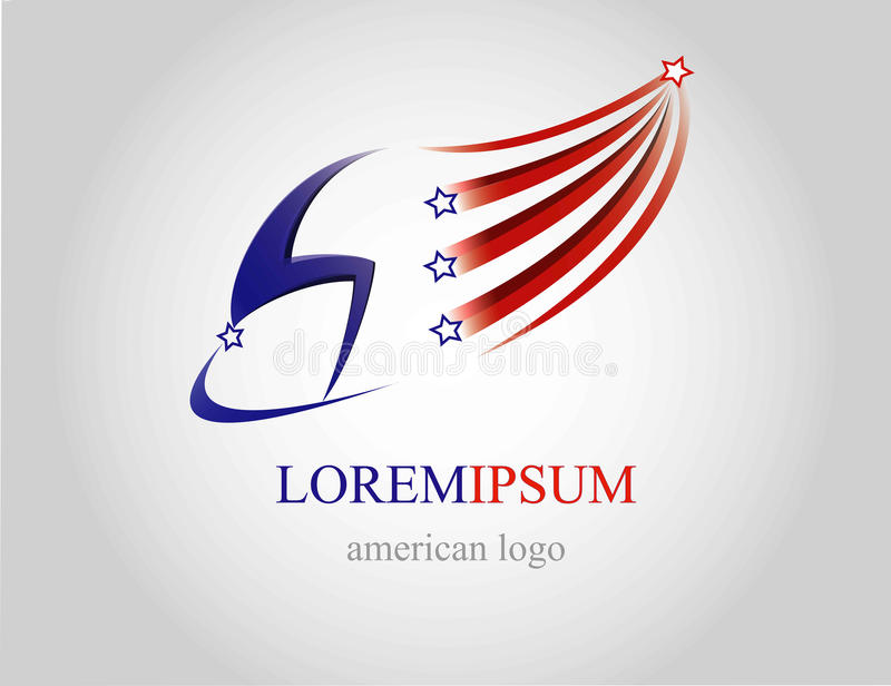 Logotipo dos EUA fotografia de stock royalty free