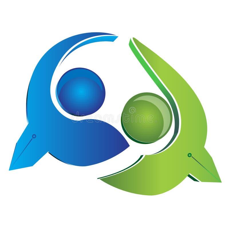Logotipo dos homens de negócio da equipe   ilustração do vetor