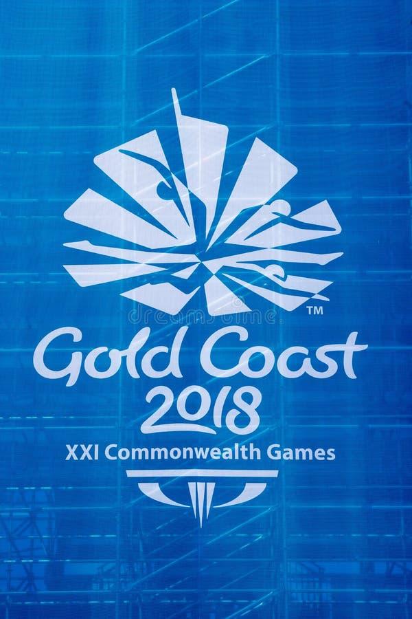 Logotipo 2018 dos jogos de comunidade imagem de stock