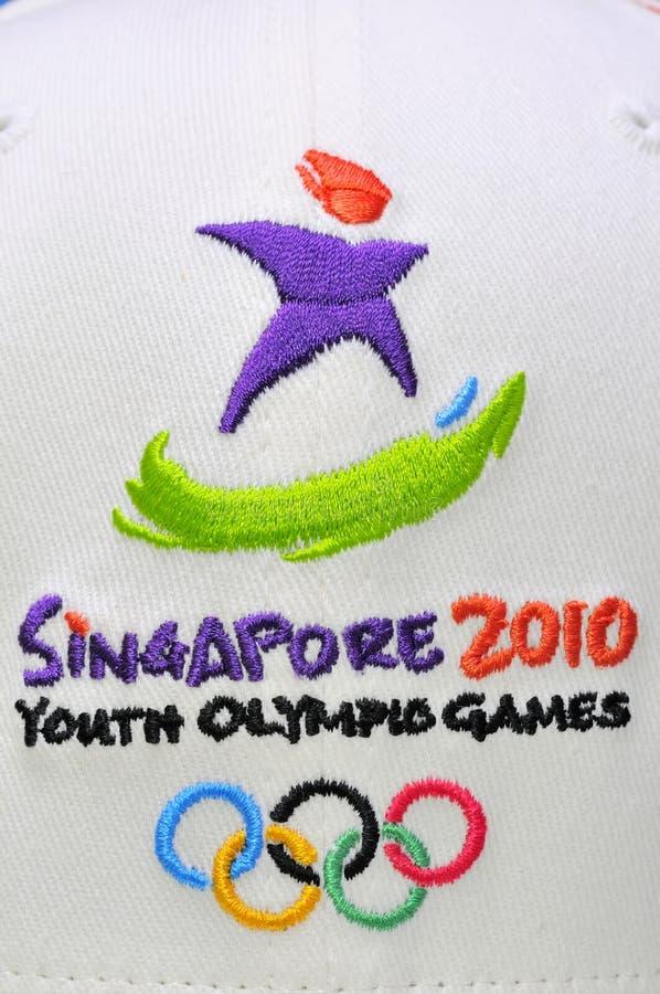 Logotipo dos Jogos Olímpicos da juventude fotos de stock royalty free