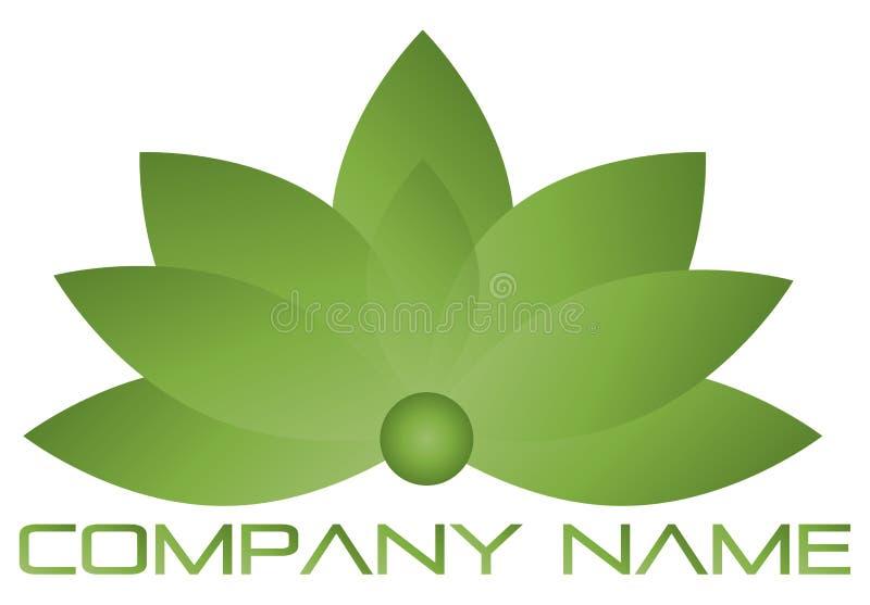 Logotipo dos lótus ilustração stock
