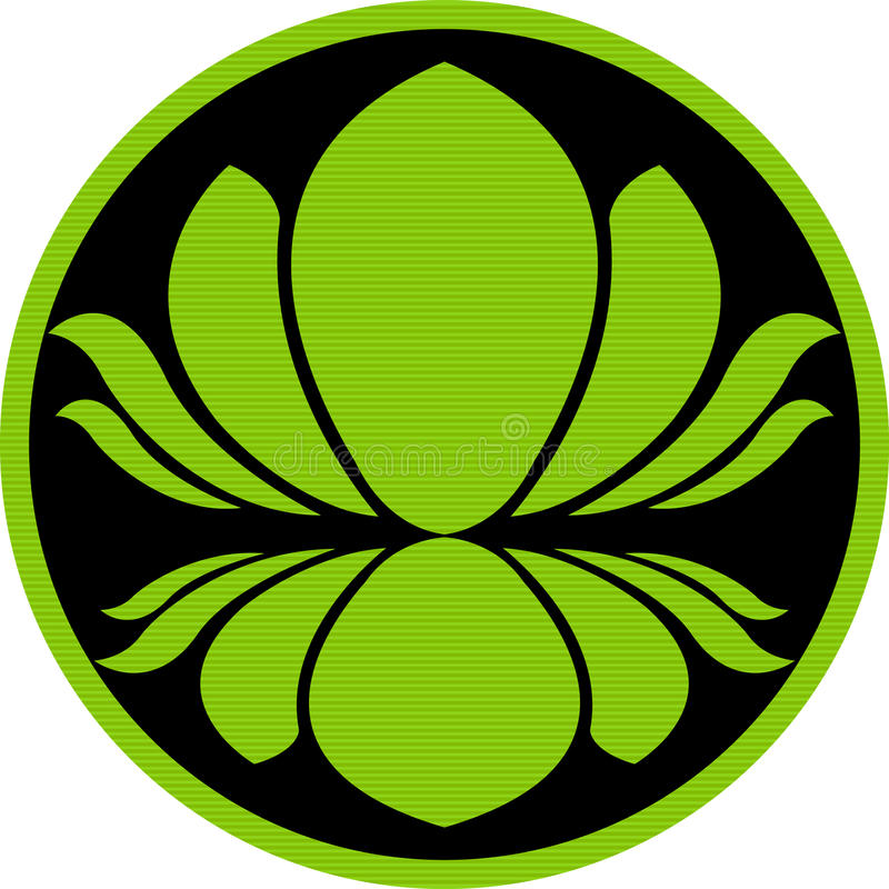 Logotipo dos lótus ilustração royalty free