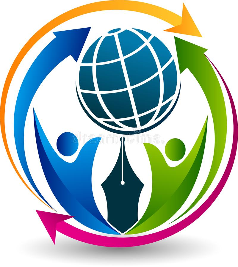 Logotipo dos meios da conexão ilustração stock
