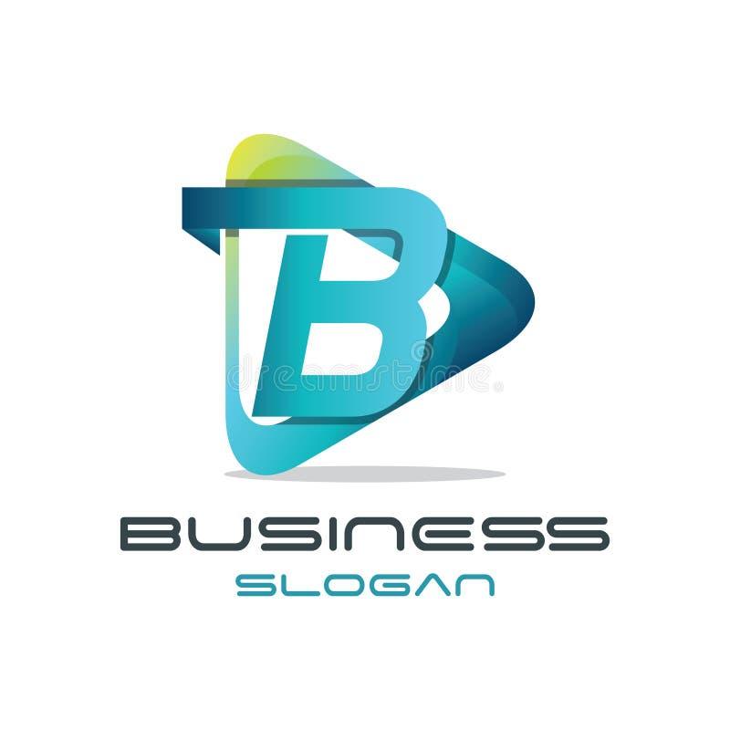 Logotipo dos meios da letra B ilustração stock