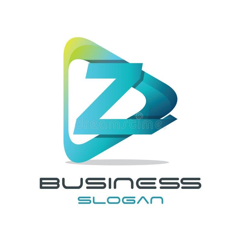 Logotipo dos meios da letra Z ilustração royalty free