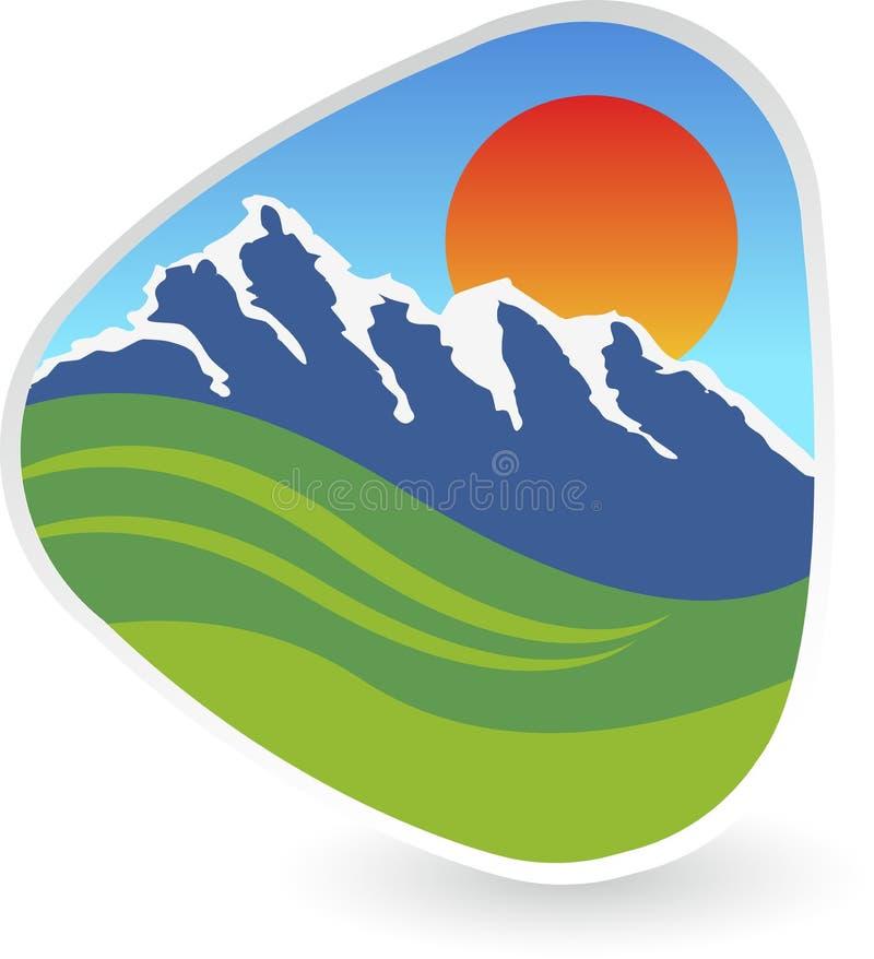 Logotipo dos montes ilustração stock