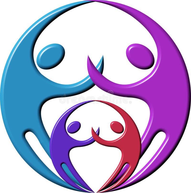 Logotipo dos pares ilustração royalty free