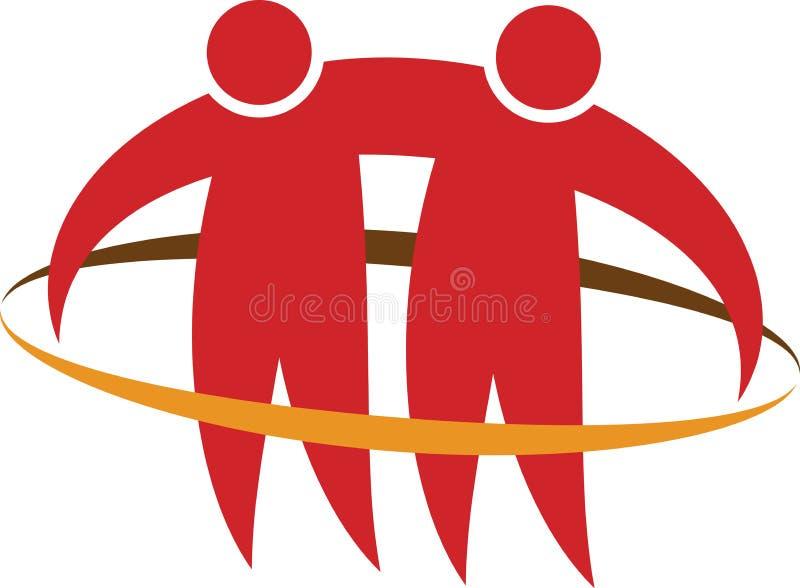 Logotipo dos pares ilustração do vetor