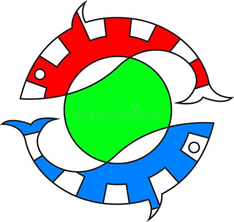 Logotipo dos peixes ilustração royalty free