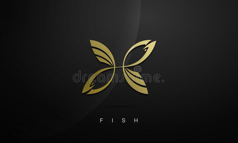 Logotipo dos peixes fotografia de stock