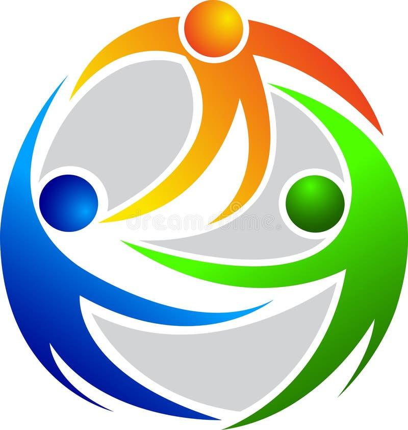 Logotipo dos povos ilustração do vetor