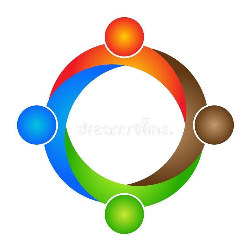 Logotipo dos povos ilustração royalty free