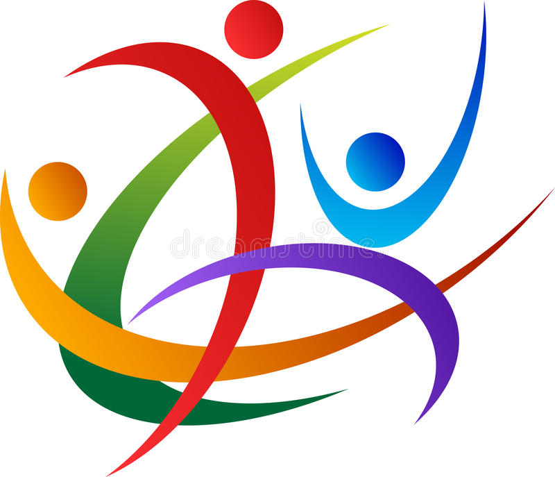 Logotipo dos povos ilustração stock