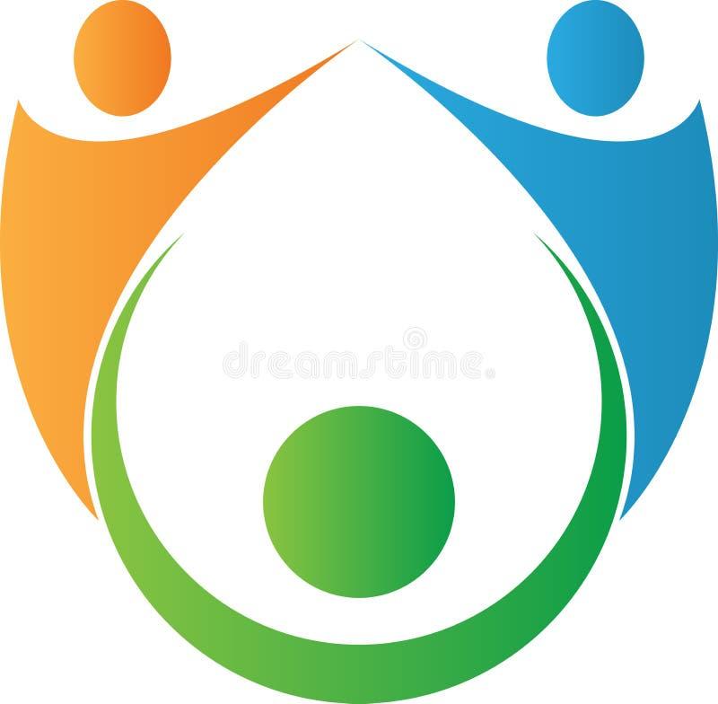 Logotipo dos povos da equipe ilustração stock