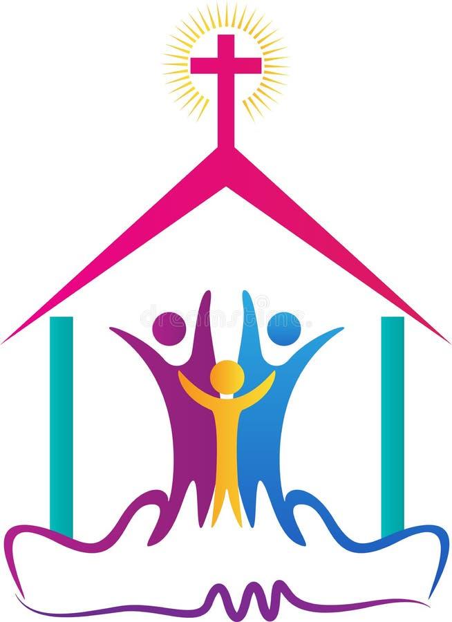 Logotipo dos povos da igreja ilustração do vetor