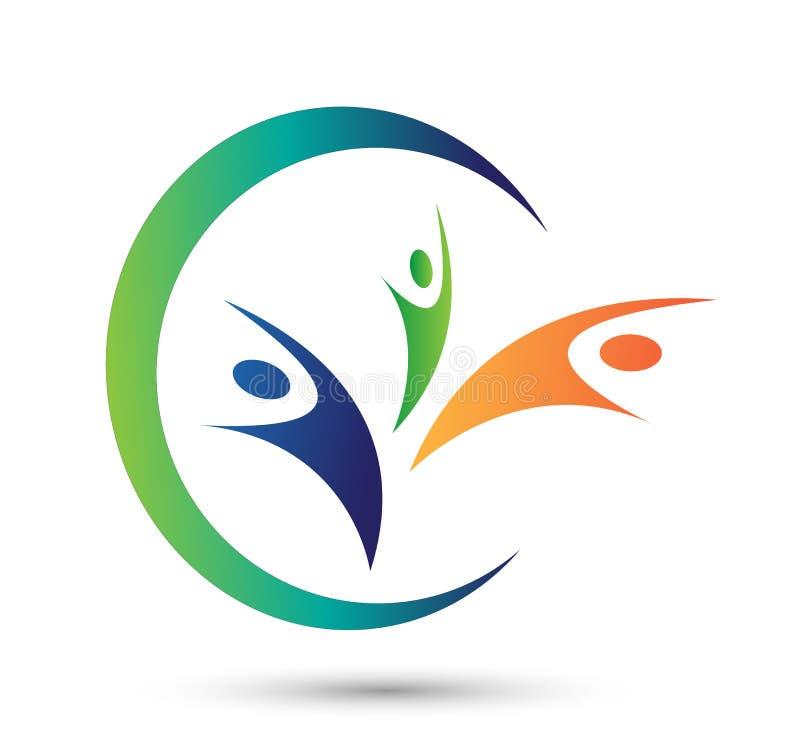 Logotipo dos povos da liberdade no fundo branco ilustração royalty free