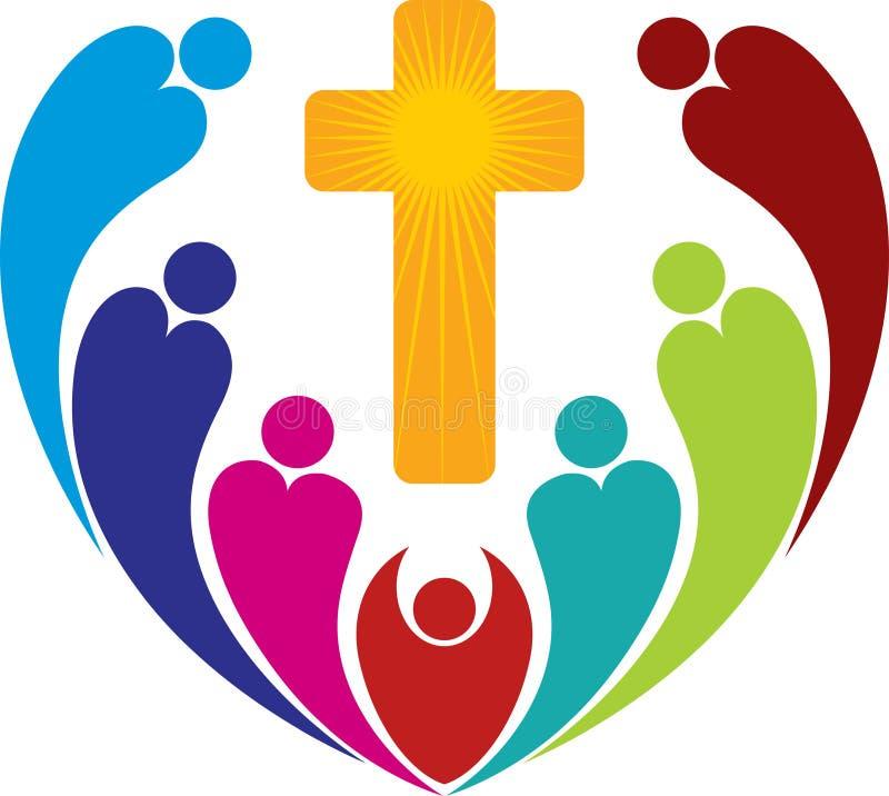 Logotipo dos povos da religião ilustração do vetor
