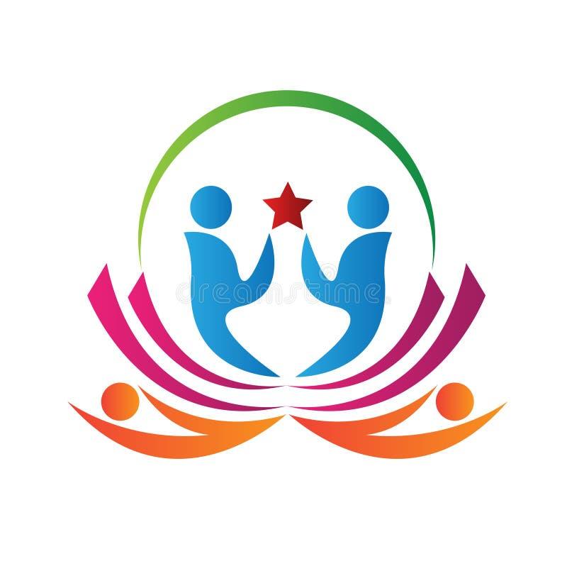 Logotipo dos povos de Lotus ilustração do vetor