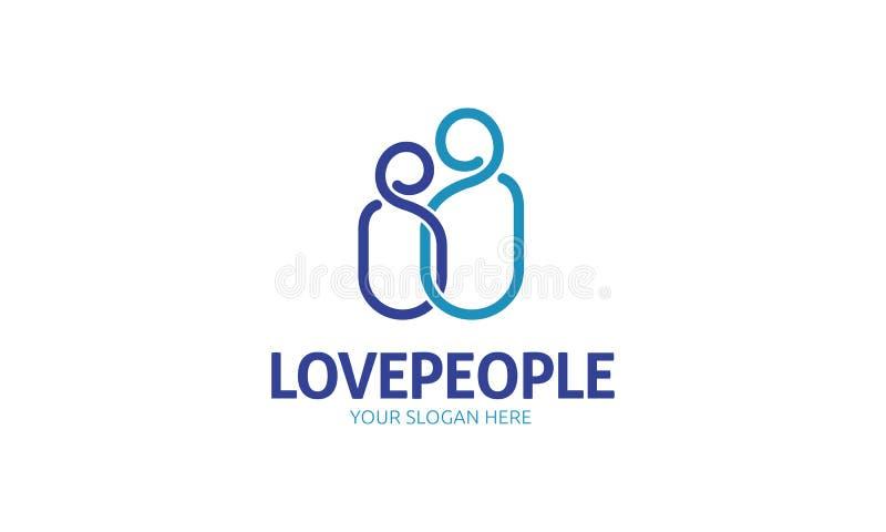 Logotipo dos povos do amor ilustração do vetor