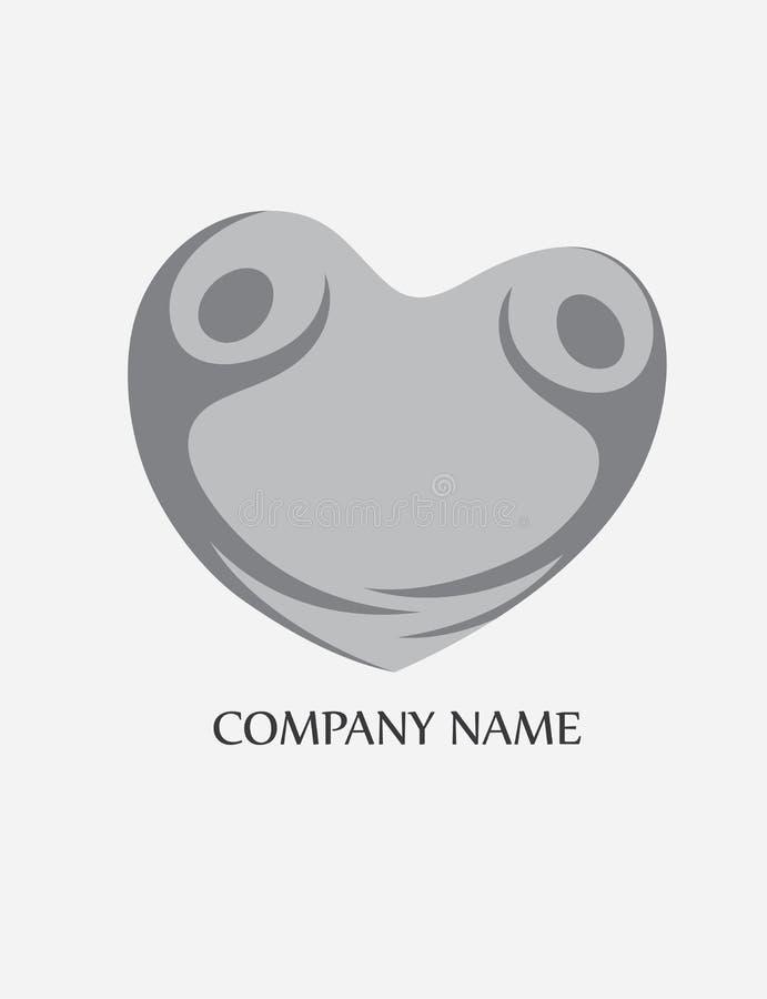 Logotipo dos povos do amor do coração ilustração stock