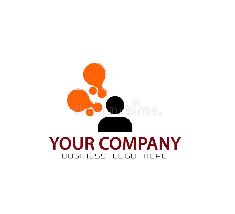 Logotipo dos povos do novo conceito ilustração royalty free