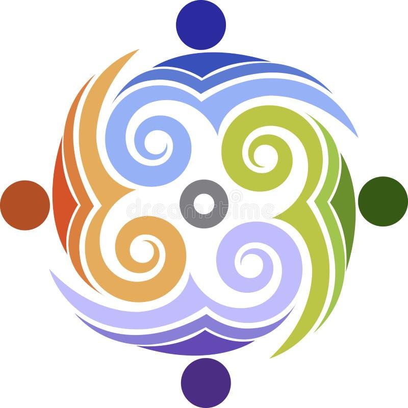 Logotipo dos povos do redemoinho ilustração royalty free