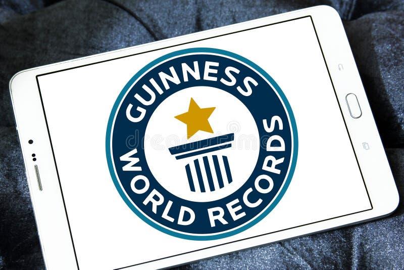 Logotipo dos recordes mundiais de Guinness foto de stock royalty free