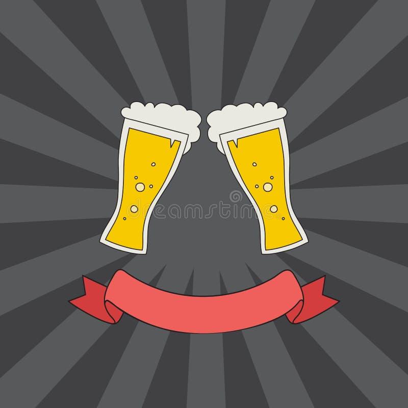 Logotipo dos vidros do tim-tim ilustração royalty free