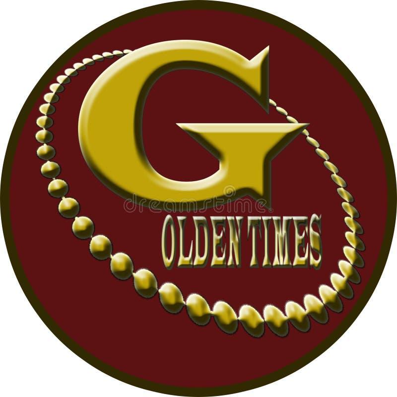Logotipo dourado das épocas fotografia de stock