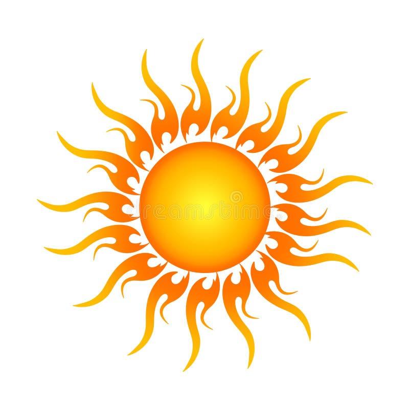 Logotipo dourado de Sun dentro ilustração stock