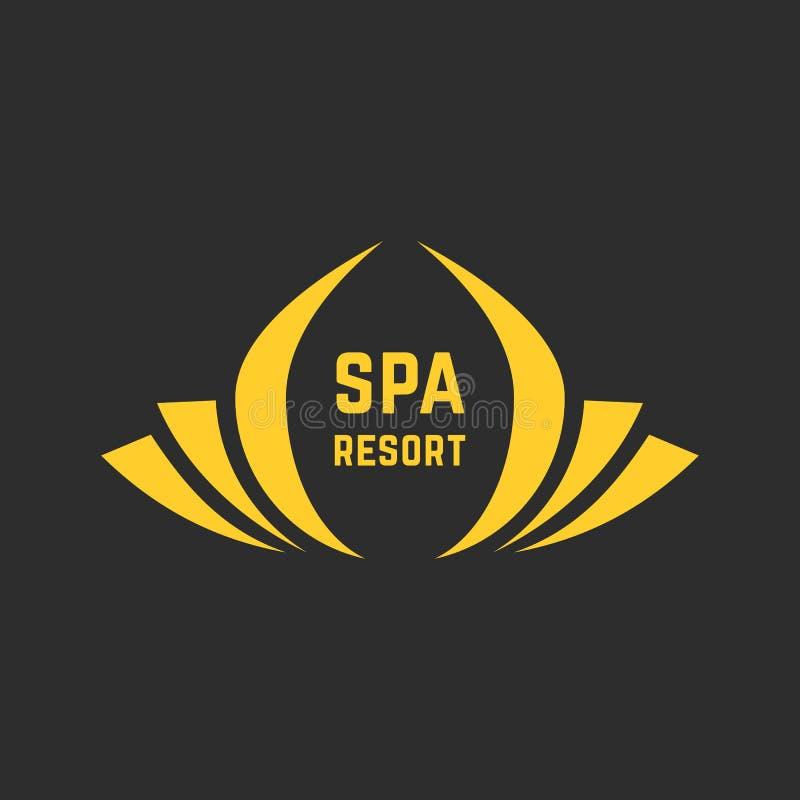 Logotipo dourado do spa resort ilustração stock