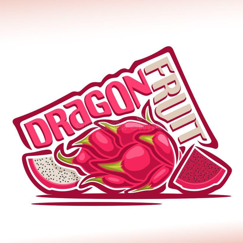 Logotipo Dragon Fruit del vector ilustración del vector