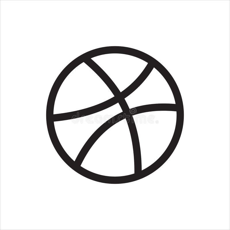 Logotipo e ícone sociais dos meios de Dribbble ilustração stock