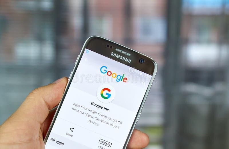 Logotipo e aplicações de Google fotos de stock