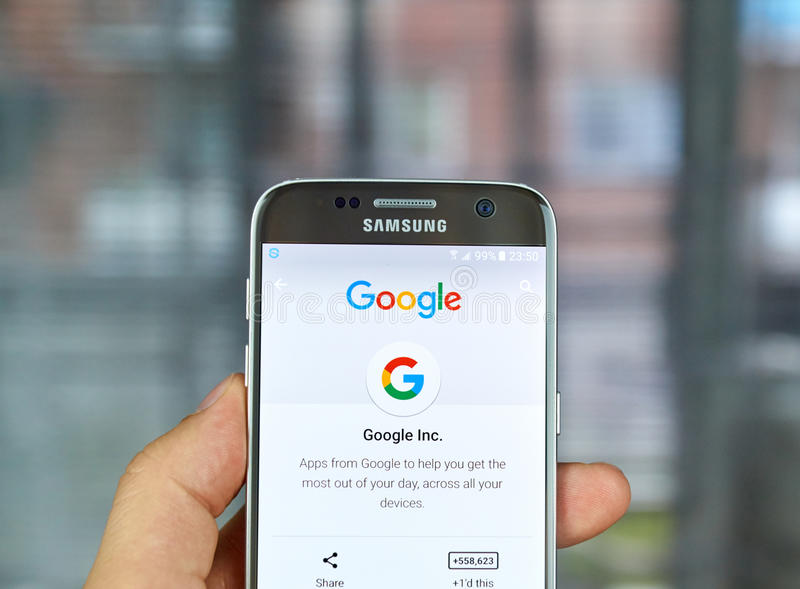 Logotipo e aplicações de Google fotografia de stock