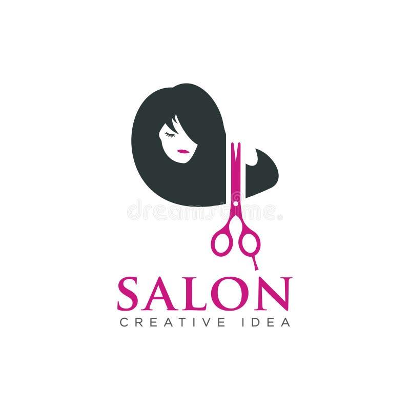Logotipo e barbeiro da beleza do cabeleireiro fotos de stock royalty free