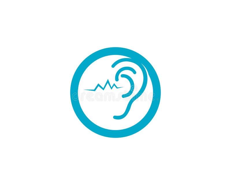 Logotipo e icono de la audiencia del oído libre illustration