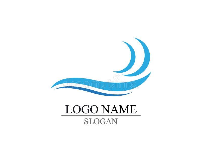 Logotipo e símbolos da onda ilustração do vetor